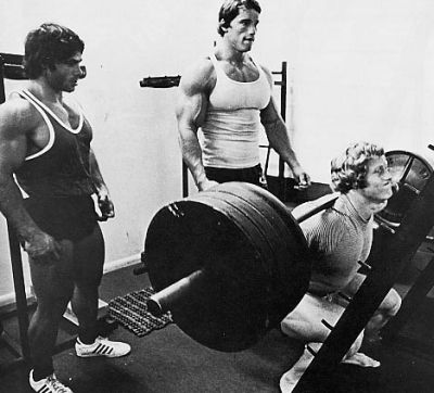 Some of the old school greats squatting,